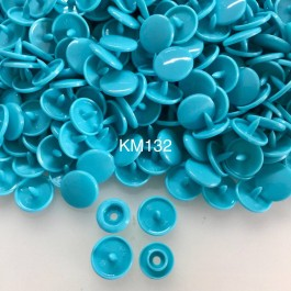 KM132: TEAL B46: T5 KAM Glossy Snap Button Plastic Fastener DIY, 50 Sets [ K3 ]