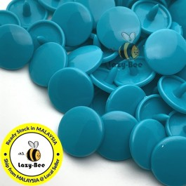 KM132: B46 TEAL 50 Sets (200 pcs) T3 T5 KAM Snap Button Plastic Fastener DIY Sewing Craft Baby cloth GLOSSY MATTE