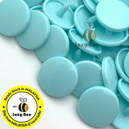 KM138: B59 POOL BLUE 50 Sets (200 pcs) T5 12mm KAM Snap Button Plastic Fastener DIY Sewing Craft Baby cloth GLOSSY MATTE