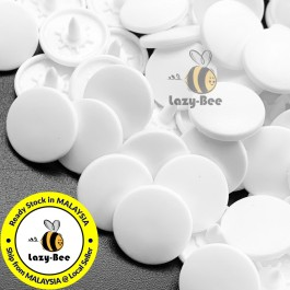 KM143: B3 WHITE 50 Sets (200 pcs) T3 T5 T8 KAM Snap Button Plastic Fastener DIY Sewing Craft Baby cloth GLOSSY / MATTE
