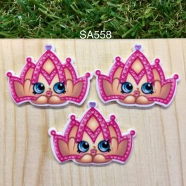 SA558: Shopkins Crown, 5 pieces [ Z32 ]