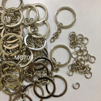 MC709: 25mm Key Chain ,50 pieces/pack + 50 pieces jump ring