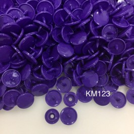 KM123: PURPLE B35: T5 KAM Glossy Snap Button Plastic Fastener DIY, 50 Sets [ K10 ]