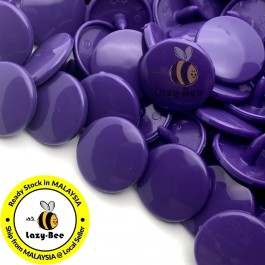 KM123: B35 PURPLE 50 Sets (200 pcs) T5 KAM Snap Button Plastic Fastener DIY Sewing Craft Baby cloth GLOSSY MATTE