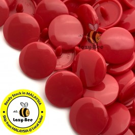KM141: B54 CRIMSON RED 50 Sets (200 pcs) T5 12.4mm KAM Snap Button Plastic Fastener DIY Sewing Craft Baby cloth GLOSSY MATTE