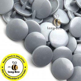 KM150: B45 SILVER 50 Sets (200 pcs) T3 T5 KAM Snap Button Plastic Fastener DIY Sewing Craft Baby cloth GLOSSY MATTE