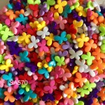 SA570: Butterfly Acrylic Beads 13x17x4mm, 50 pieces [ B8 ]