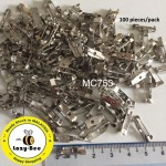 MC753: Platinium Iron Brooch Back Bar Pins Safety Pin DIY 15mm, 100 pieces [ B14 ]