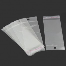 B25044: 200 Pcs 16x6cm (Usable Space: 12.2x6cm) Self Adhesive Seal With Hang Hole Packaging [ B9 ]