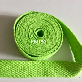 KM180: KEY LIME: 20MM Canvas Webbing 2 meter