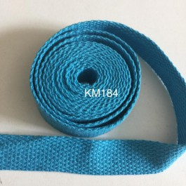 KM184: TURQUOISE: 20MM Canvas Webbing 2 meter