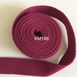 KM196: VICTORIAN ROSE: 20MM Canvas Webbing 2 meter