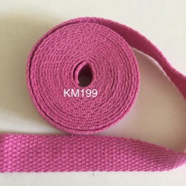 KM199: ROSE BLOOM: 20MM Canvas Webbing 2 meter