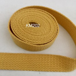 KM202: MAIZE: 20MM Canvas Webbing 2 meter