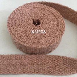 KM208: NATURAL: 20MM Canvas Webbing 2 meter