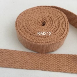 KM212: TANN: 20MM Canvas Webbing 2 meter