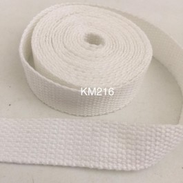 KM216: WHITE: 20MM Canvas Webbing 2 meter