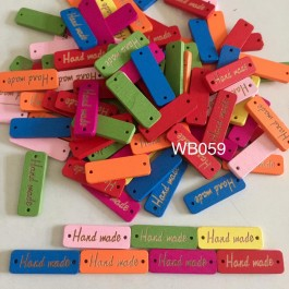 WB059: Rectangle with Word hand made 10x30mm, 50 pieces [ C8 ]