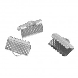 B0080997: Iron Crimp End Silver Tone 10mm, 200 pieces [ B3 ]