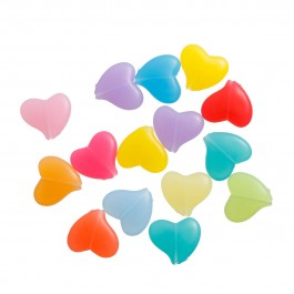 B0081519: Acrylic Spacer Beads Heart 16x15mm, 50 pieces [ B3 ]