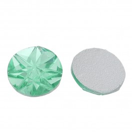 B72277: Resin Dome Royal Green Transparent 12mm, 100 pieces