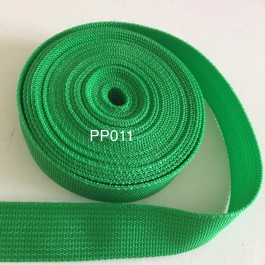 PP011: CLASSICAL GREEN: Polypropylene Webbing 25mm, 5meter