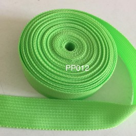 PP012: ACID GREEN: Polypropylene Webbing 25mm, 5meter