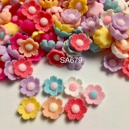 SA679: Flower Opaque Resin 13x13mm, 20 pieces [ B2 ]
