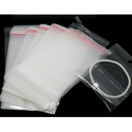 B05760: 200 pieces 13.5x7cm (Usable Space: 9x7cm) Self Seal Plastic Bags With Hole DIY Packaging [ C9 ]