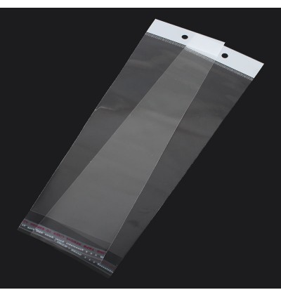 B31075: Self-Seal Bags With Hole 26x7cm, 100 pieces [ B11 ]