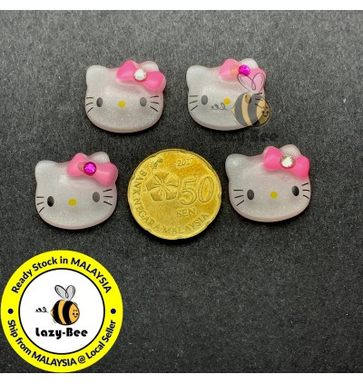 SA615: 10 pcs 20 mm Hello Kitty Resin Cabochons DIY Kid Craft Brooch scrapbook Hair Accessory
