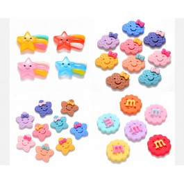 Cloud Star Biscuit Cute Kawaii Flat back Resin Cabochon DIY Baby Brooch Hair Accessory Jewelry making [A1]