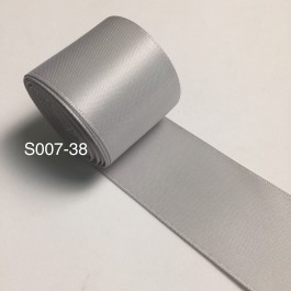 S007-38: SHELL GREY: Double Faced Satin Ribbon 38mm, 5Meter