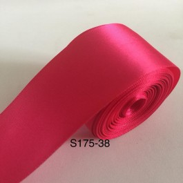 S175-38: SHOCKING PINK: Double Faced Satin Ribbon 38mm, 5Meter