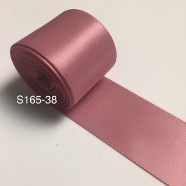 S165-38: ROSY MANVE: Double Faced Satin Ribbon 38mm, 5Meter