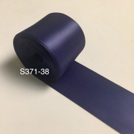 S371-38: INK BLUE: Double Faced Satin Ribbon 38mm, 5Meter