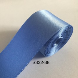 S332-38: FRENCH BLUE: Double Faced Satin Ribbon 38mm, 5Meter