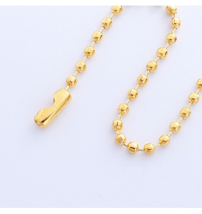 B0101263: Gold Plated Ball Chain Keychain 10cm, 100 Pieces [ B18 ]