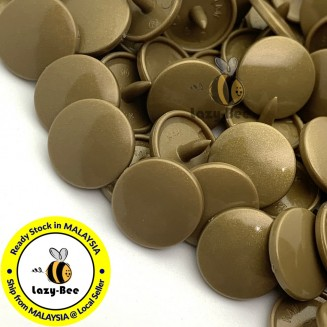 KM163: B11 GOLD 50 Sets (200 pcs) T5 12.4mm KAM Snap Button Plastic Fastener DIY Sewing Craft Baby cloth GLOSSY / MATTE