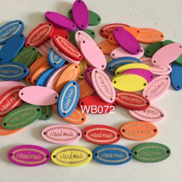 WB072: Dyed Oval with Word Handmade 13x26mm, 50 pieces [ B17 ]