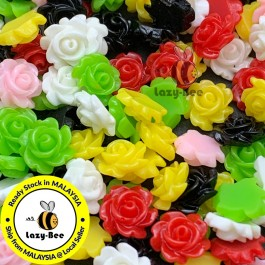 SA620: 50 pieces 7mm mini Resin Cabochons mixed colour DIY jewelry Making Craft Brooch accessory [ B18 ]