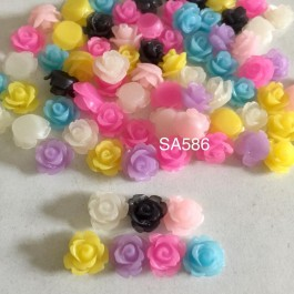 SA586: Frosted Flower Resin 11mm, 50 pieces [ B12 ]