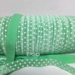 ER343: TROPIC White Dots 15mm Elastic Ribbon, 5 meter