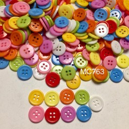 MC763: Resin Button 15mm, 200 pieces [ C14 ]