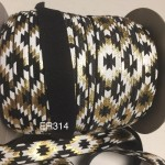 ER314: Black Printed: 15mm Elastic Ribbon 5 meter