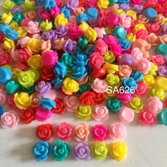 SA626: Resin Flower Cabochons 10mm, 50 pieces [ B11 ]