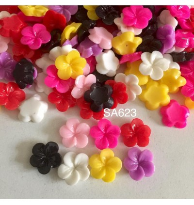 SA623: Opaque Resin flower 11mm, 50 pieces [ B13 ]