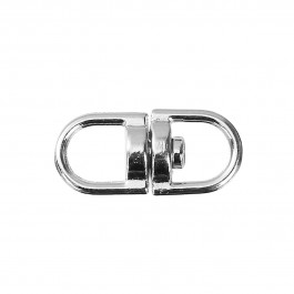 B0088035: 30 pieces 19x9mm Zinc Based Alloy Keychain & Keyring Findings Oval Silver Tone Rotatable [ B13 ]