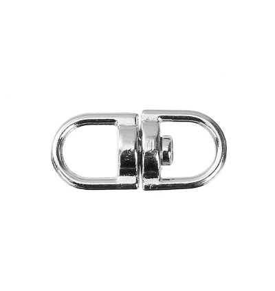 B0088035: Oval Silver Tone Rotatable 19x9mm, 30 pieces [ B13 ]