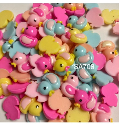SA708: Duck Resin 21x17mm, 20 pieces [ A17 ]